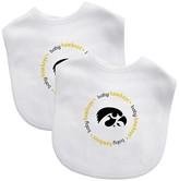 Baby Fanatic NCAA Lowa Hawkeyes Bib Set - 2 Pack