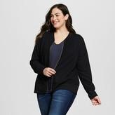 Women's Plus Size Bomber Jacket Black - Loramendi