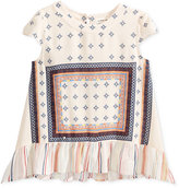 Monteau Multi-Print Peplum Top, Big Girls (7-16)