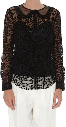 RED Valentino Leopard Layered Blouse