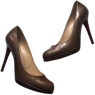 Christian Louboutin Brown Patent leather Heels