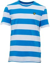 Lyle & Scott Junior Boys Bold Stripe T-Shirt Sea Blue
