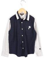 Roberto Cavalli Boys' Two-Tone Button-Up Shirt