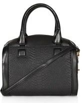 Double Zip Faux Leather Bag
