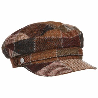 Lierys Casenta Wool Fishermans Cap by Women - Made in Italy Peaked caps Womens Flat hat with Peak Autumn-Winter - One Size Rust