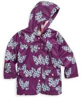Hatley Little Girl's & Girl's Butterflies & Buds Polyurethane Raincoat