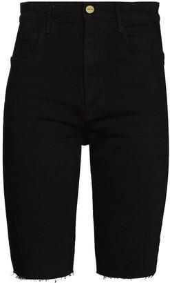Frame Le Vintage Bermuda raw-edge shorts