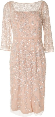 Aidan Mattox Embellished Midi Dress