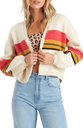 Billabong Take Me There Stripe Crop Cardigan
