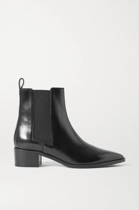 AEYDĒ Lou Leather Chelsea Boots - Black