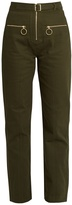 Self-Portrait Utility zip-front twill trousers