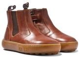 Pom D'Api Pom Dapi Camel Brown Zipped Chelsea Boots