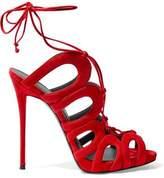 Giuseppe Zanotti Design Lace-Up Suede Sandals