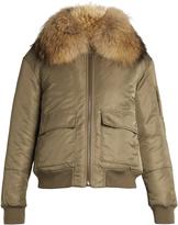 Yves Salomon Fur-lined nylon bomber jacket