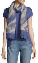 Eileen Fisher Woodgrain Linen and Organic Cotton Scarf