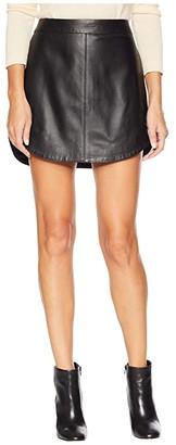 BB Dakota Conrad Leather Mini Skirt (Black 2) Women's Skirt