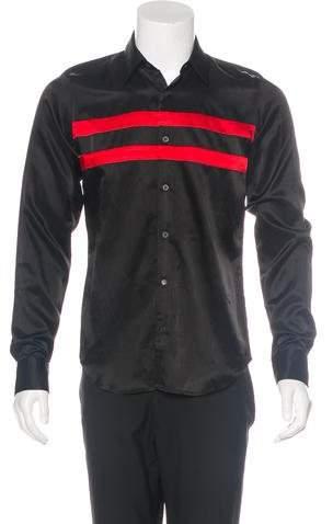 Dries Van Noten Striped Satin Shirt w/ Tags
