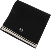 Fred Perry Twin Tipped Lambswool Scarf Black