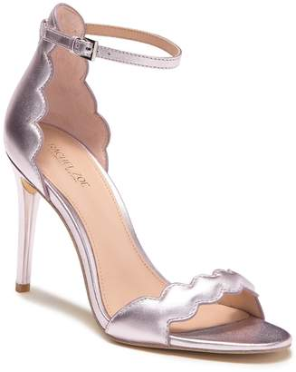 Rachel Zoe Ava Scalloped Metallic Leather Stiletto Sandal
