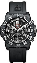 Luminox Navy SEAL Colormark Chronograph Men's Quartz watch with Black dial featuring LLT light Technology 44 millimeters Carbon Compound case and Black PU Strap XS.3081