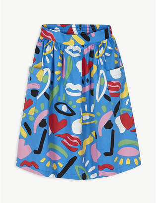 Stella McCartney Graphic face cotton skirt 4-16 years