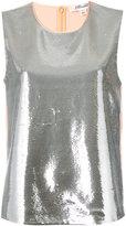 Diane von Furstenberg sequin blouse - women - Nylon/Polyester/Spandex/Elastane/Viscose - S
