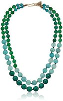 "lonna & lilly Classics"" Gold-Tone/Green Multi-Beaded Necklace, 21"""