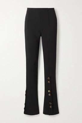 A.W.A.K.E. Mode Button-embellished Crepe Flared Pants - Black