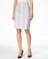 Calvin Klein Snakeskin-Print Pencil Skirt