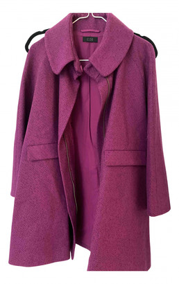 Cos Purple Tweed Coats