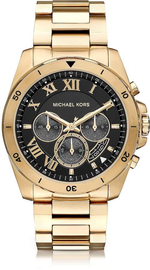 Michael Kors Brecken Goldtone Stainless Steel Men's Cronograph Watch