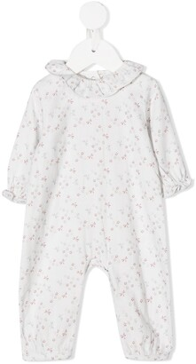 Knot Floral Print Ruffle Baby Grow
