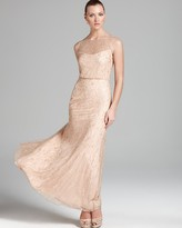 Aidan Mattox Blouson Gown - Sleeveless Beaded