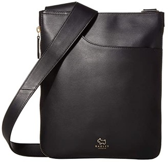 Radley London Pockets - Medium Zip Around Crossbody (Black) Handbags
