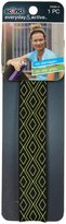 Scunci Printed No Slip Waistband Headwraps - Black w/ Lime Diamond - 3 mm
