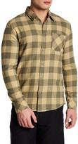 Quiksilver Long Sleeve Checkered Print Modern Fit Shirt