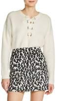Maje Women's Brushed Leopard Print Miniskirt