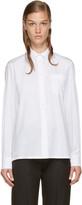 Valentino White Rockstud Collar Shirt