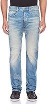 G Star Men's 3301 Straight-Fit Jean in Cyclo Stretch Denim