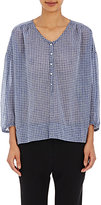 Nili Lotan Women's Embroidered Provence Blouse-BLUE