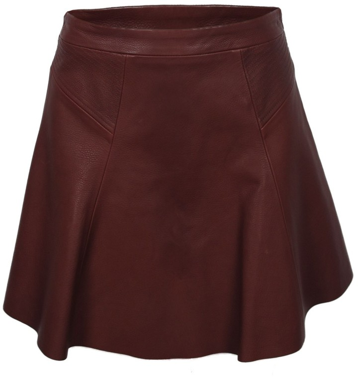 A.L.C. Reese Leather Skirt