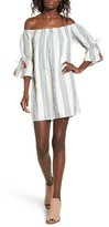 Tularosa Women's Sara Stripe Off The Shoulder Dress