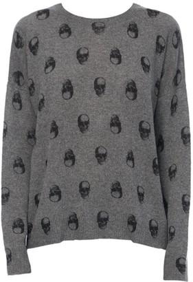 360 Cashmere Cammeline Skull Print Cashmere Sweater