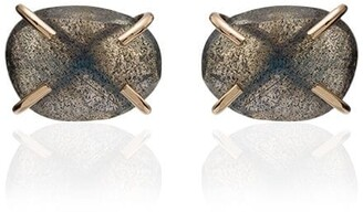 Melissa Joy Manning 14K yellow gold labradorite stud earrings