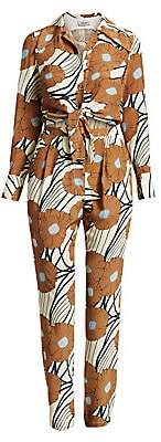 Rachel Comey Women's Luana Silk Floral Shirt Jumpsuit