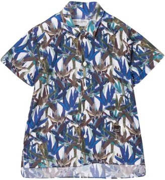 Paolo Pecora Kids Leaf Print Shirt