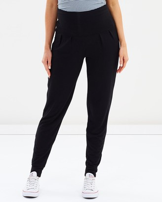 Bamboo Body - Women's Black Sweatpants - Softline Slouch Pants - Size One Size, XS at The Iconic
