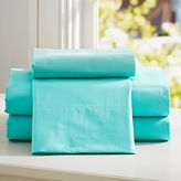 PBteen Classic Organic Extra Pillowcases, Set of Two, Standard, Pool