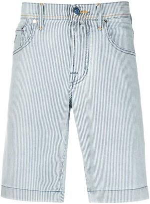 Jacob Cohen Striped Denim Shorts