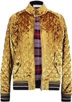 Maison Margiela Quilted velvet jacket